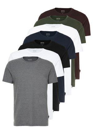 BASIC CREW 7 PACK - T-shirt basic - multi colour