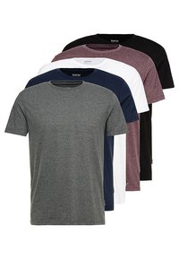 Burton Menswear London - TEE 5 PACK - T-shirt - bas - multi - 0