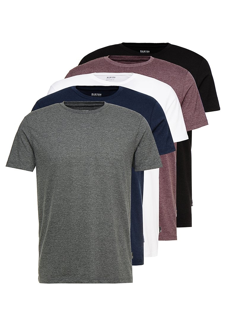 Burton Menswear London - TEE 5 PACK - T-shirt - bas - multi