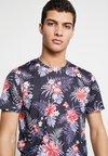 Burton Menswear London - BASE FLORAL MATCHING SHORT - Print T-shirt - navy