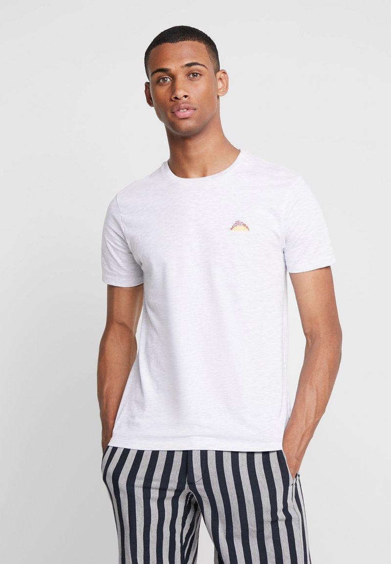 Burton Menswear London - TACO EMBROIDERY - T-shirts print - grey melange