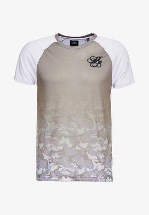 ICONIC TAPED RAGLAN - Print T-shirt - khaki