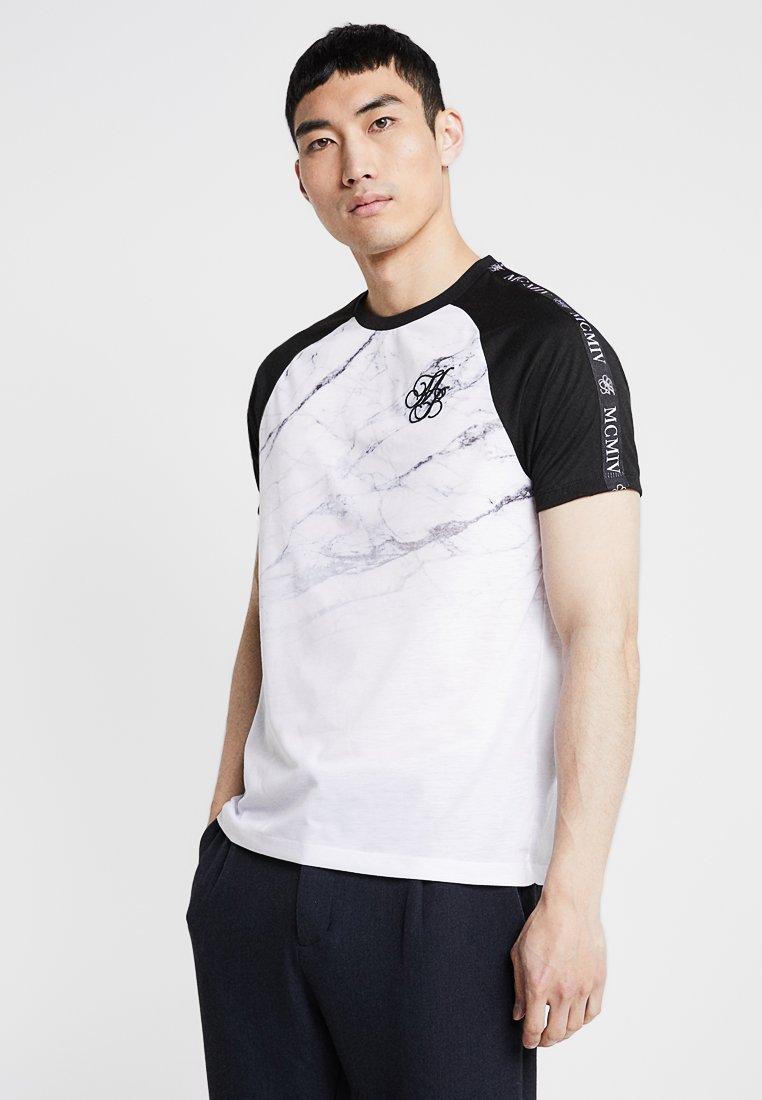 Burton Menswear London - ICONIC MARBLE  - Camiseta estampada - white