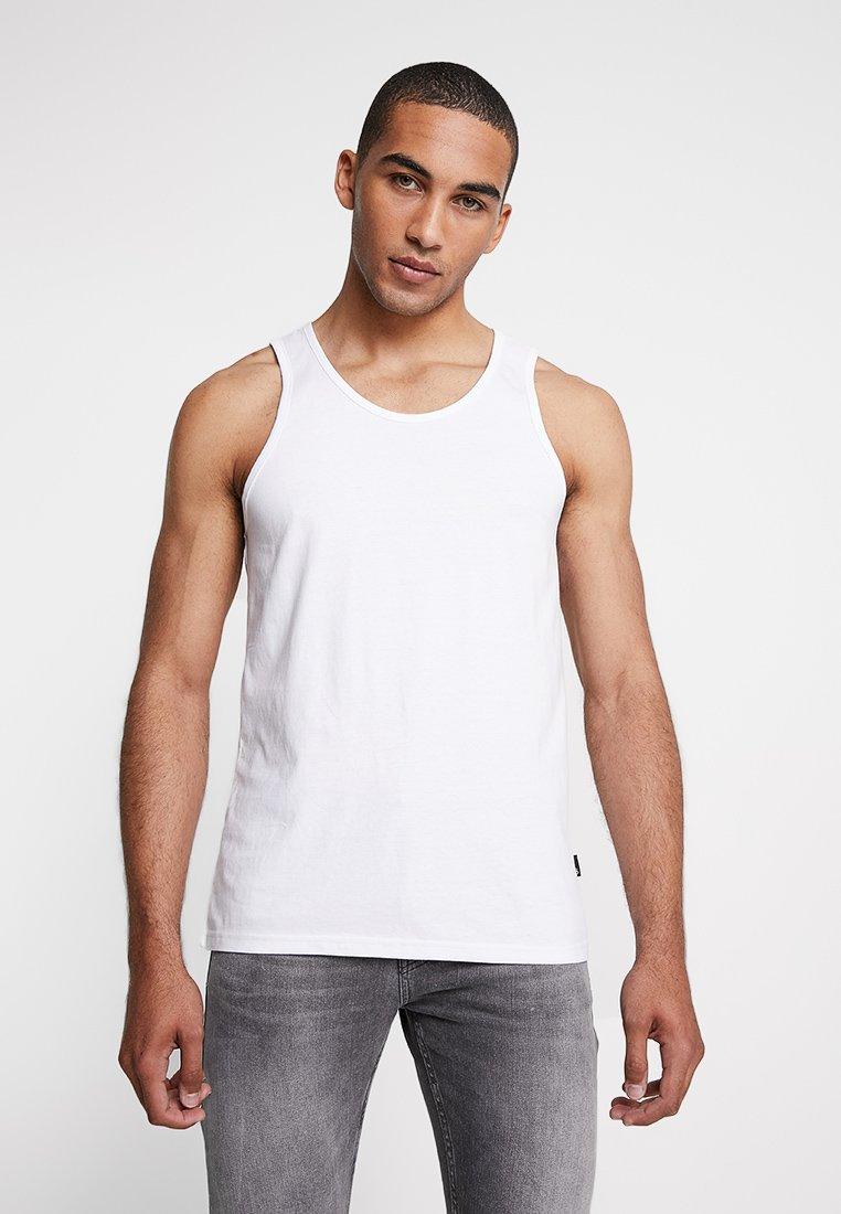 Burton Menswear London - BASIC VEST - Top - white