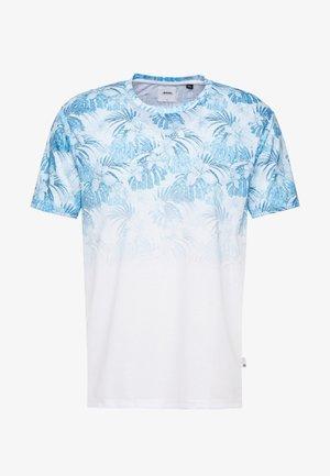 PALM FLORAL FADE - T-shirts print - white