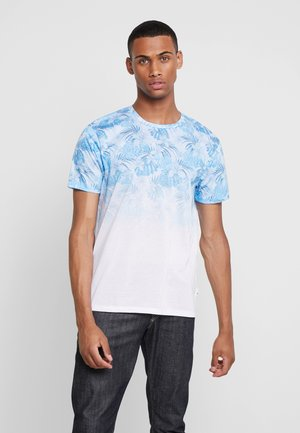 PALM FLORAL FADE - T-shirt med print - white
