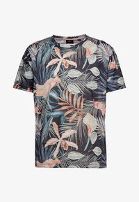 Burton Menswear London - TROP FLORA - T-shirt med print - navy - 3