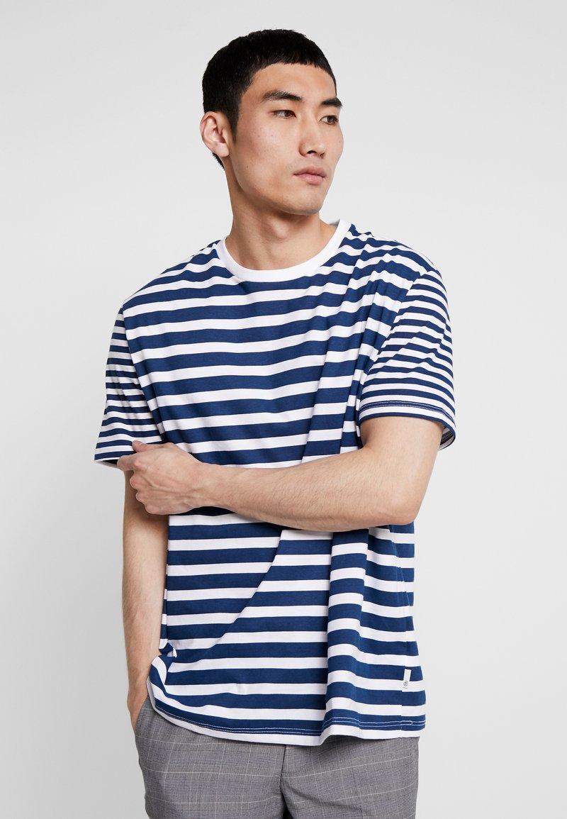 Burton Menswear London - WHITE SLUB BRETON  - T-Shirt print - white
