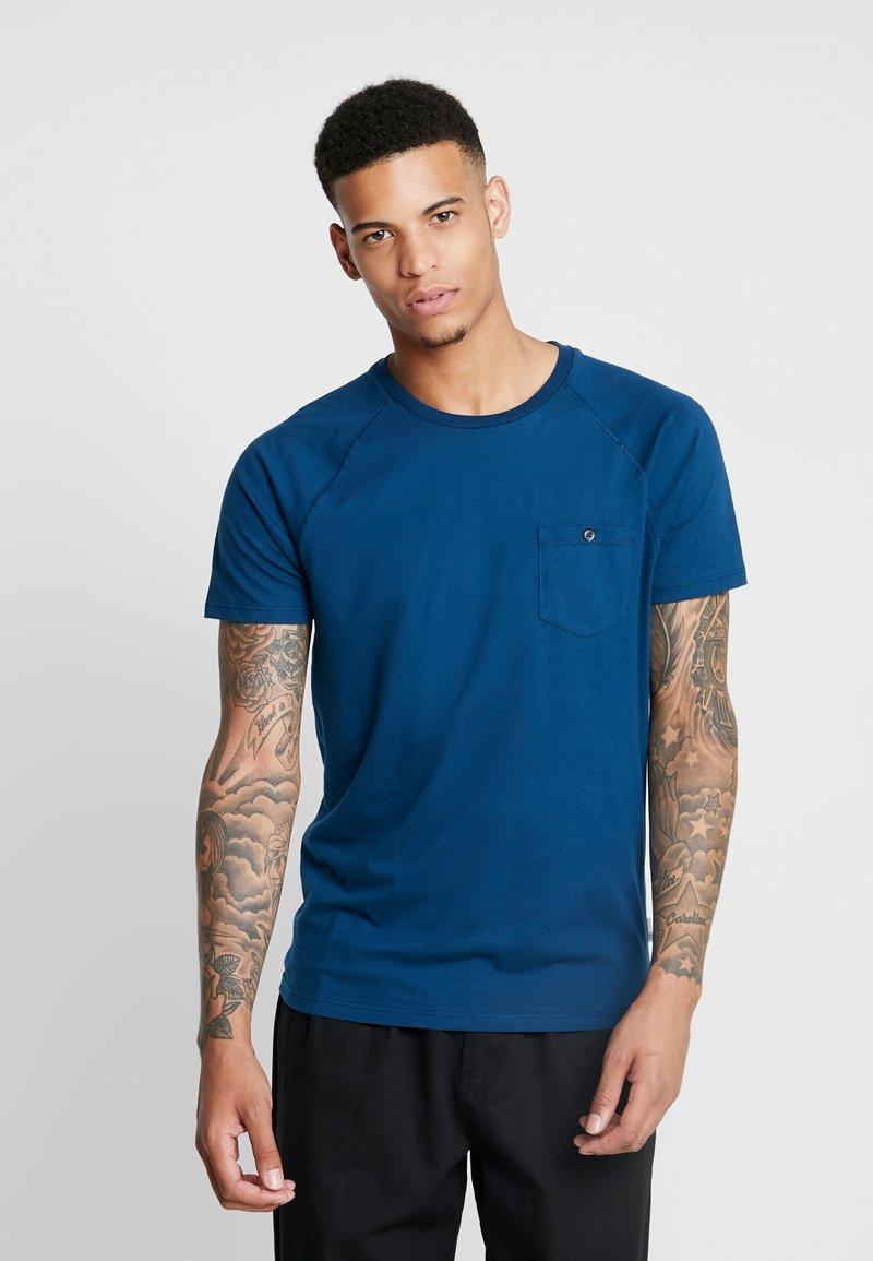 Burton Menswear London - SLUB SADDLE SLEEVE TEE - T-Shirt basic - blue