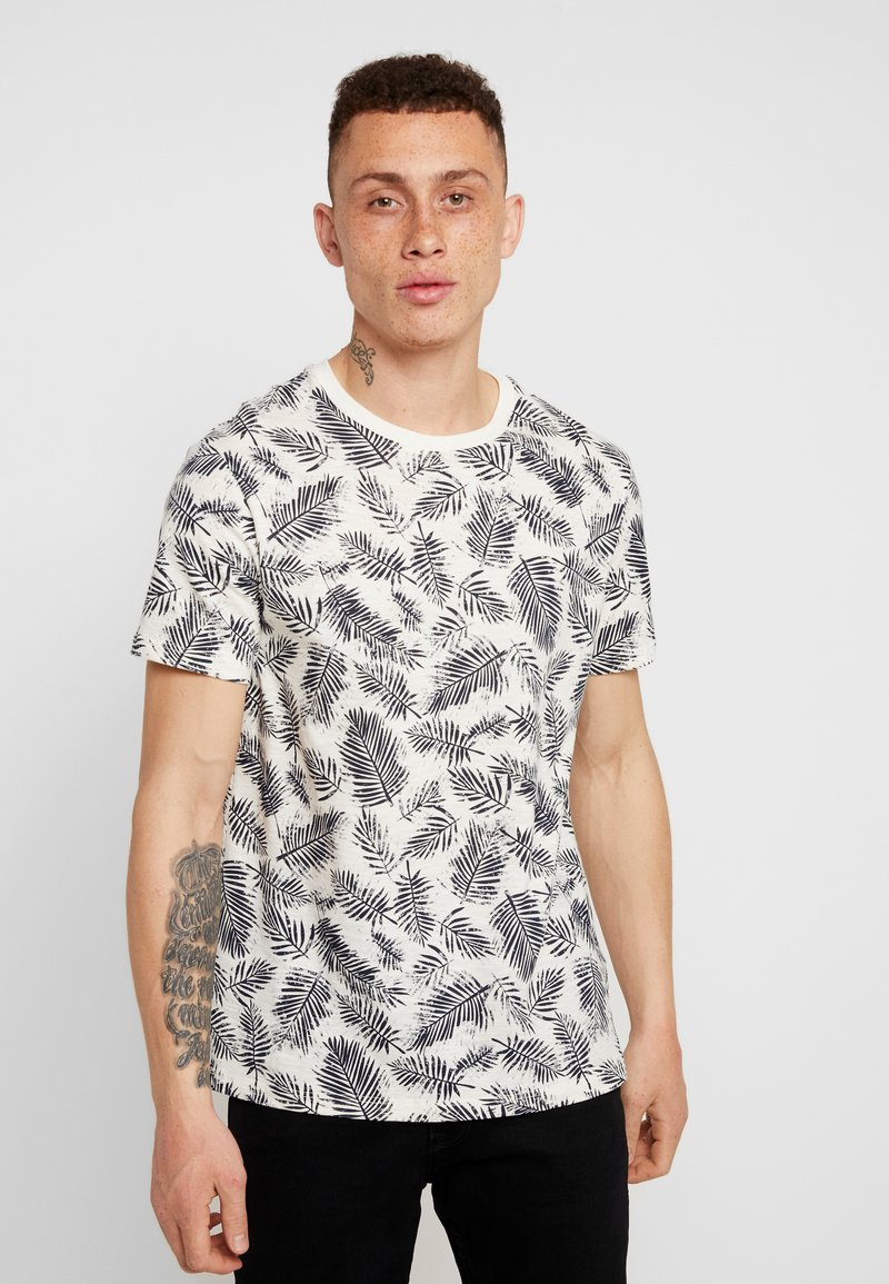 Burton Menswear London - SMART FLORAL TWO COLOUR - T-Shirt print - light grey