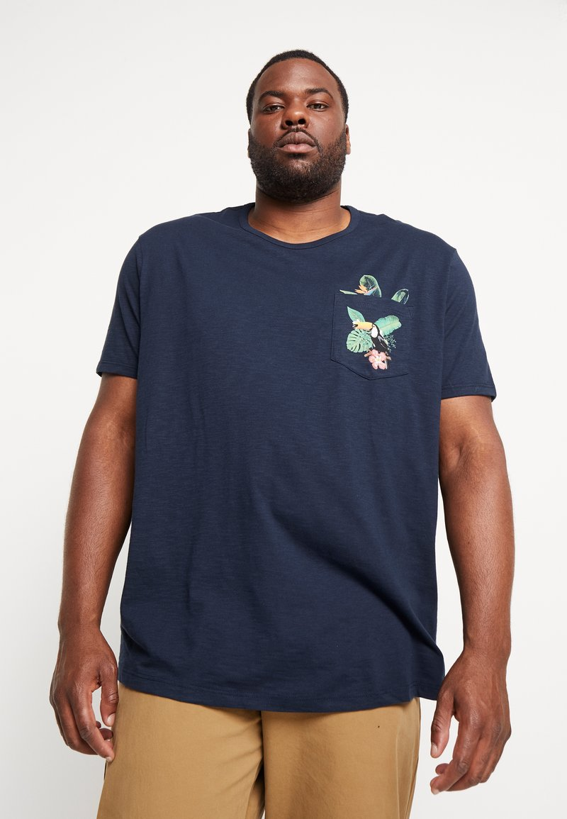 Burton Menswear London - TOUCAN POCKET - Camiseta estampada - navy