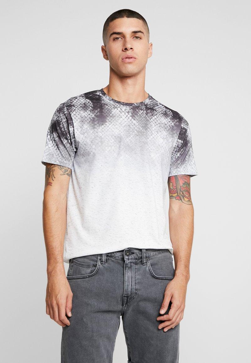 Burton Menswear London - SNAKESKIN FADE ITALIAN - T-Shirt print - black
