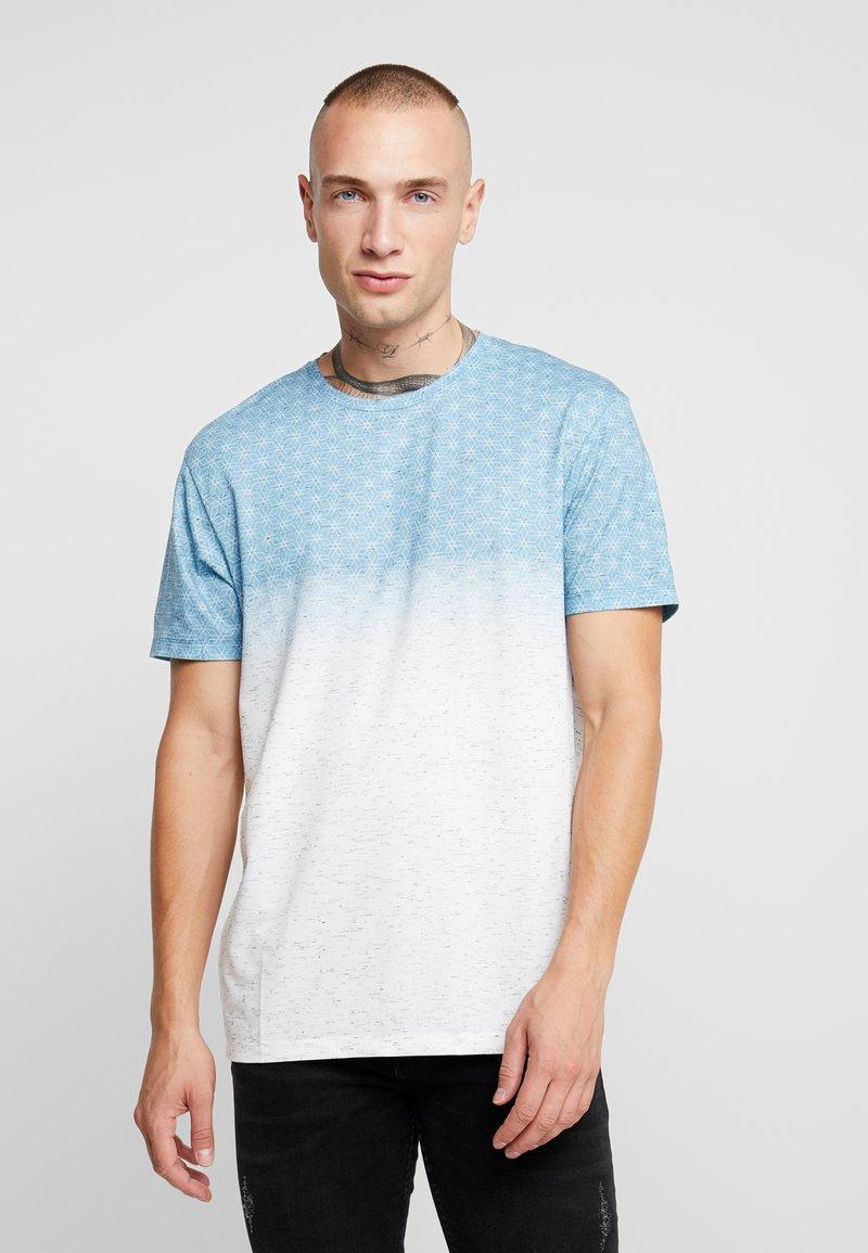 Burton Menswear London - GEO FADE OUT - Print T-shirt - grey