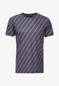 Burton Menswear London - DIAGONAL STRIPE - Printtipaita - navy - 3