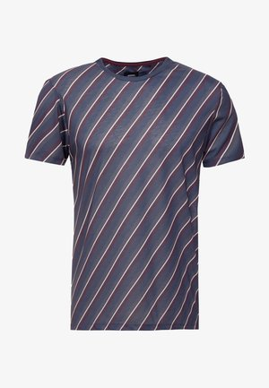 DIAGONAL STRIPE - T-shirt print - navy