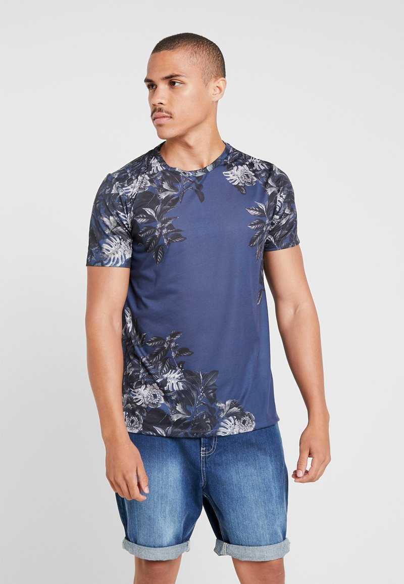 Burton Menswear London - FLO PLACEMENT - T-shirts print - navy