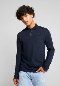 Burton Menswear London - BASIC 2 PACK - Top sdlouhým rukávem - grey melange/dark blue - 2