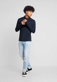 Burton Menswear London - BASIC 2 PACK - Top sdlouhým rukávem - grey melange/dark blue - 1