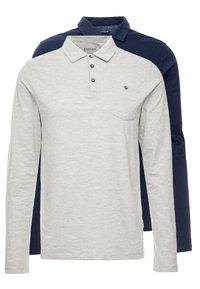 Burton Menswear London - BASIC 2 PACK - Top sdlouhým rukávem - grey melange/dark blue - 0