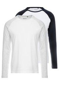 Burton Menswear London - RAGLAN 2 PACK - Top sdlouhým rukávem - mixed - 0