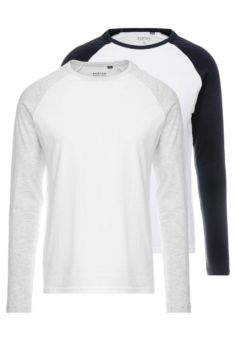 Burton Menswear London - RAGLAN 2 PACK - Top sdlouhým rukávem - mixed