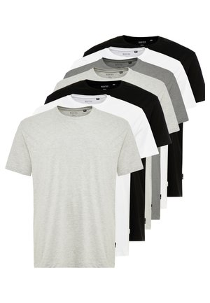 BASIC TEE 7 PACK - T-shirt basic - grey/black/white