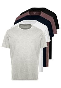 Burton Menswear London - B&T 5 MULTIPACK TEE - T-shirt basic - multi-coloured - 0