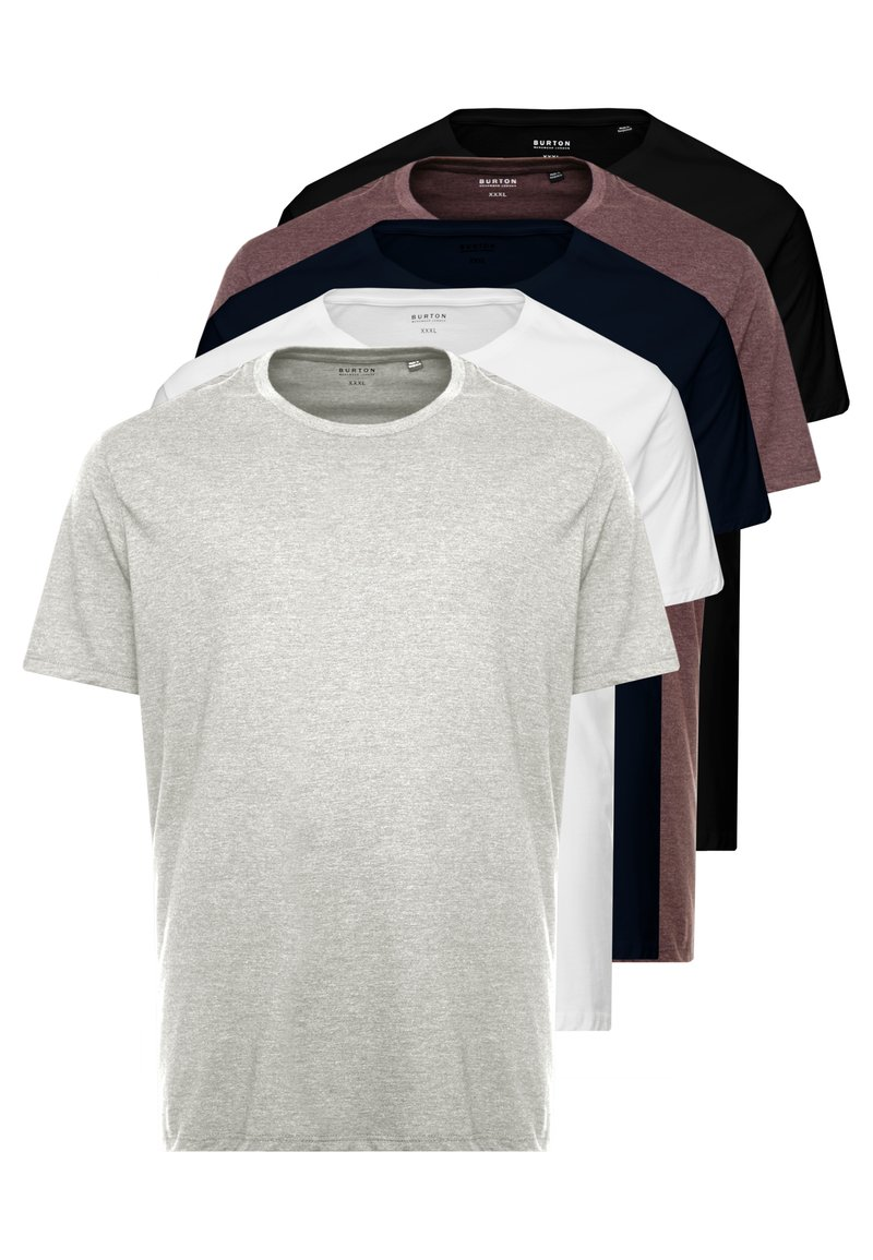 Burton Menswear London - B&T 5 MULTIPACK TEE - T-shirt basic - multi-coloured