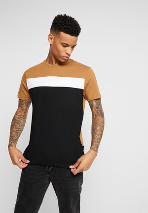 COLOUR BLOCK - T-shirts med print - brown