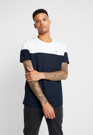 CHEST BLOCK - T-shirt con stampa - navy