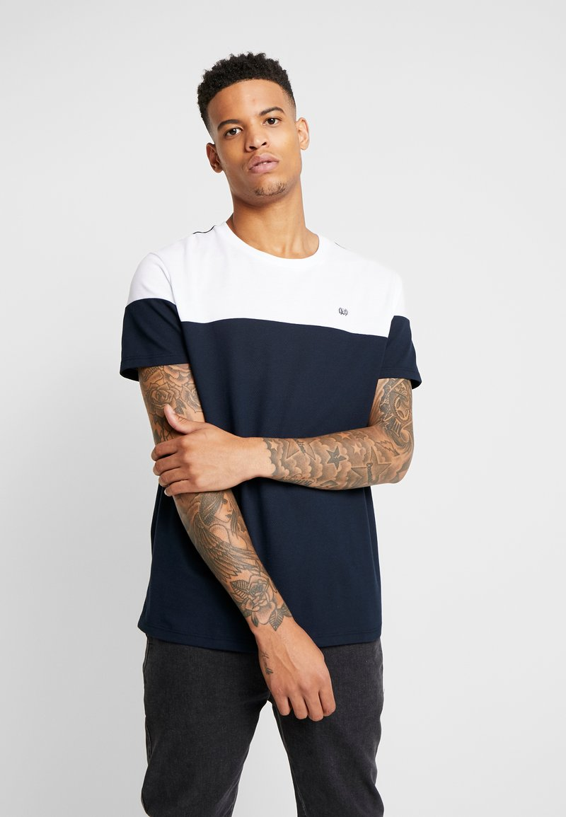 Burton Menswear London - CHEST BLOCK - Triko s potiskem - navy