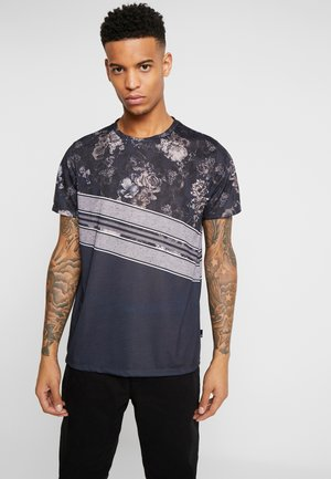 SPLICE FLORAL PANEL - Print T-shirt - grey