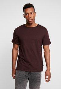 Burton Menswear London - BASIC CREW 5PACK - T-shirt - bas - charcoal marl/scarab/rich blue/burgundy - 4