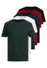 Burton Menswear London - BASIC CREW 5 PACK - Basic T-shirt - white - 0