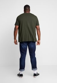 Burton Menswear London - 3 PACK - T-shirt basic - grey/olive/black - 3
