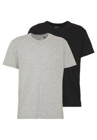 Burton Menswear London - 2 PACK  - T-shirt - bas - grey melange - 0