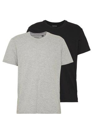 2 PACK  - Jednoduché triko - grey melange
