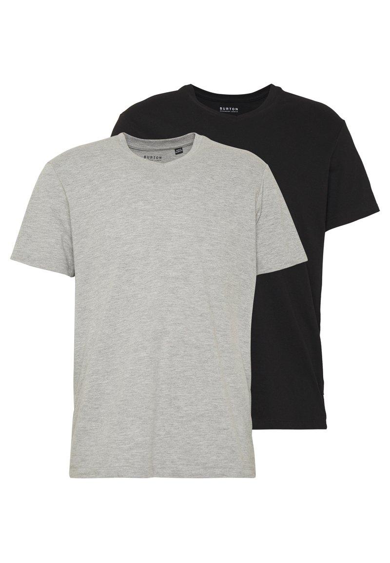 Burton Menswear London - 2 PACK  - T-shirt - bas - grey melange