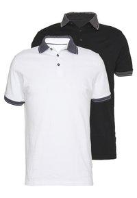 Burton Menswear London - 2 PACK - Polo shirt - white - 0