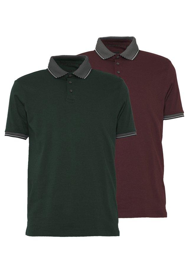 2 PACK - Poloshirt - burgundy