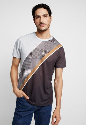 SPLICE CHECK - Print T-shirt - grey