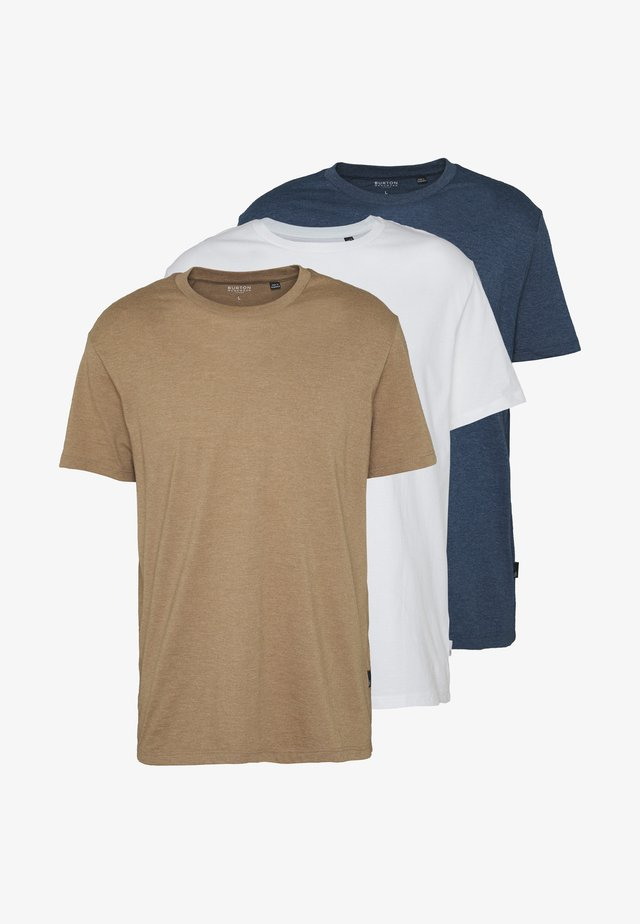 SHORT SLEEVE BASIC CREW 3 PACK - T-shirt - bas - blue