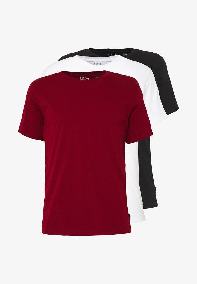3PACK - T-shirt basic - red/black/white