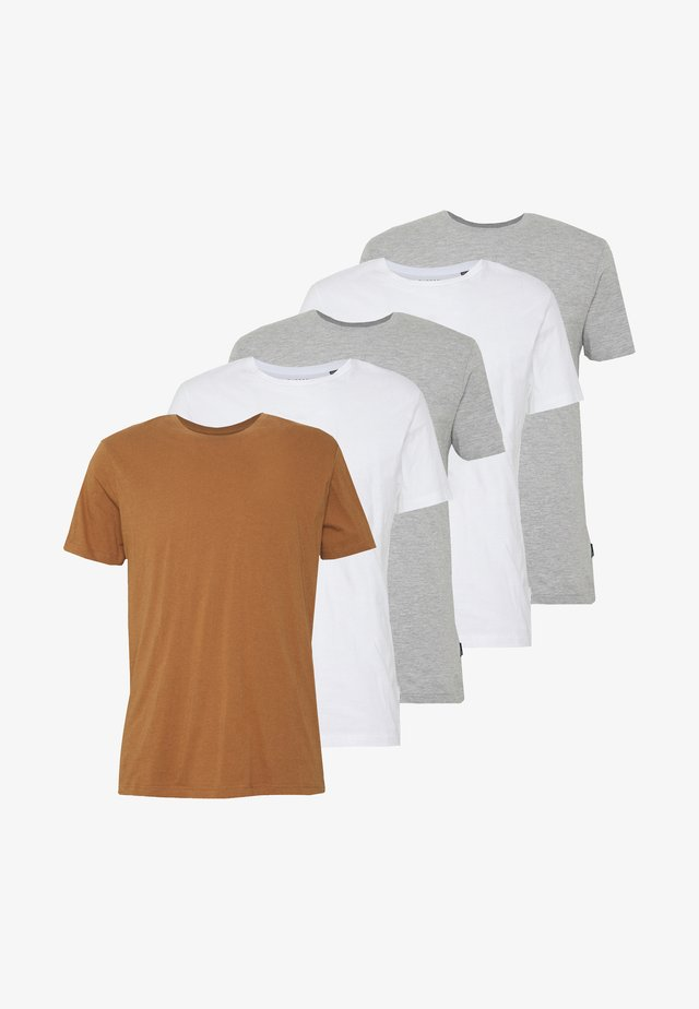 5 PACK - T-shirt - bas - white