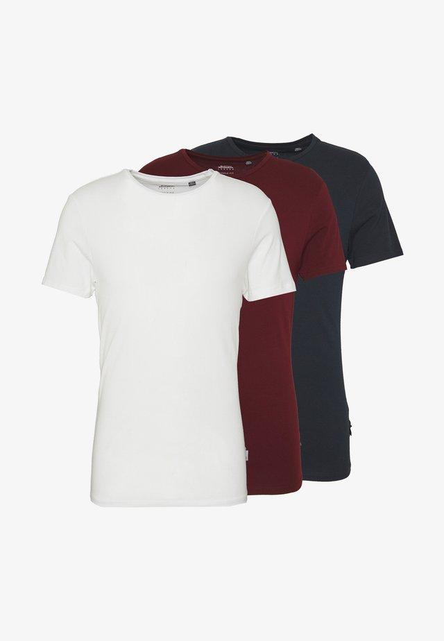 3PACK - Jednoduché triko - burgundy