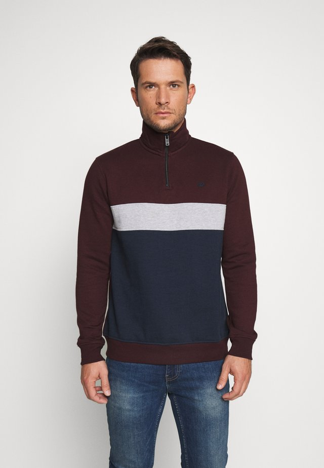 ZIP FUNNEL - Sweatshirt - burgundy