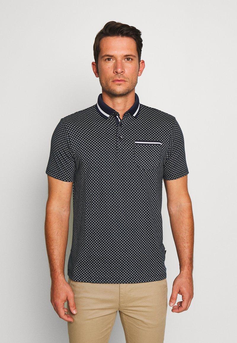 Burton Menswear London - GEO PRINT - Poloskjorter - navy