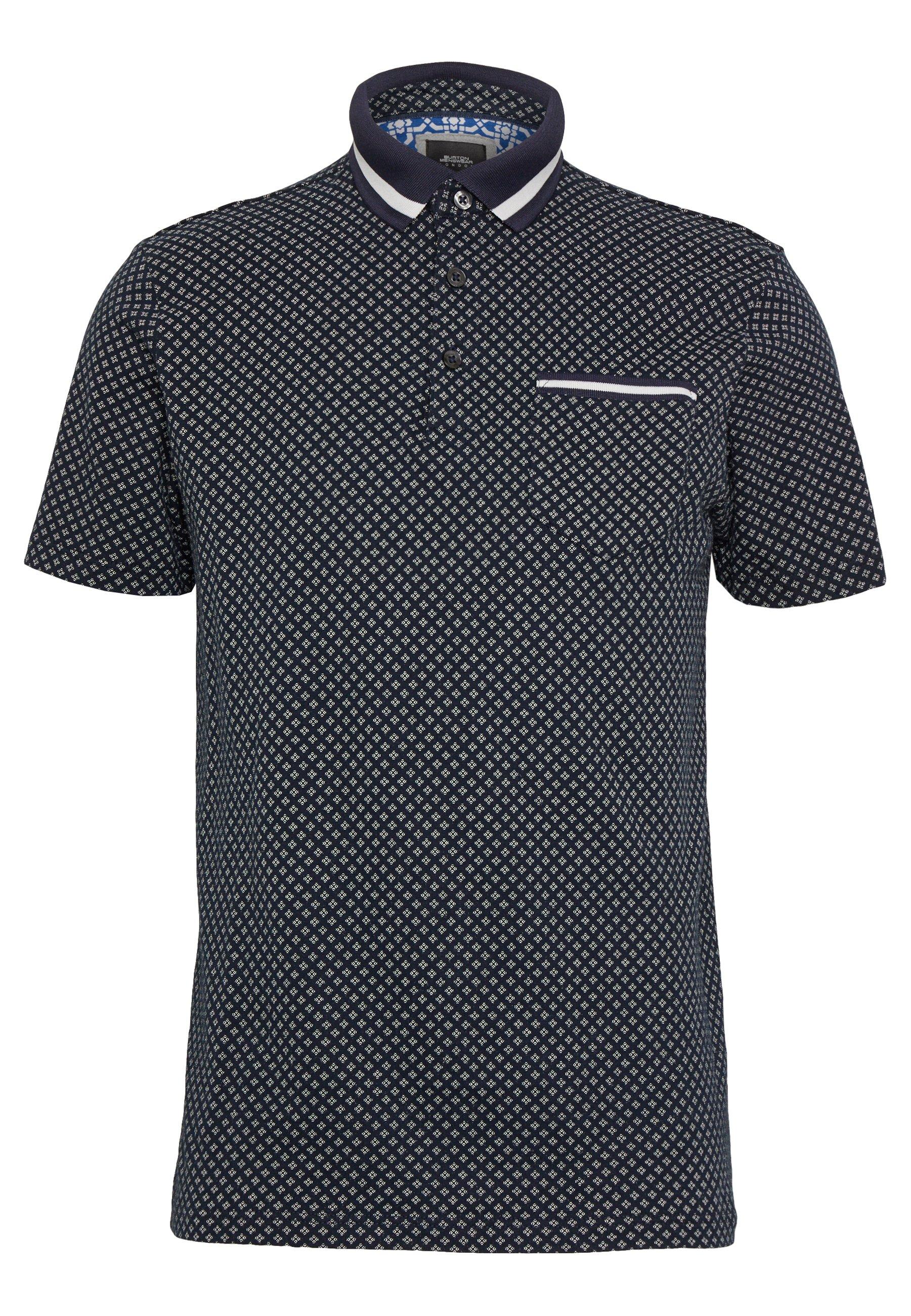 Burton Menswear London GEO PRINT - Koszulka polo - navy