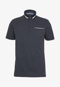 Burton Menswear London - GEO PRINT - Poloskjorter - navy - 3