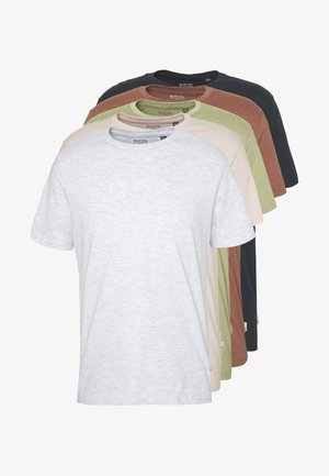5PACK - Camiseta básica - red/pink/blue/grey/green